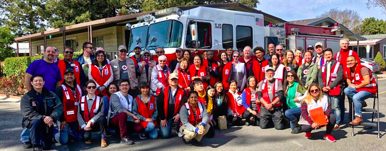 Photo of team of Silicon Valley Red Cross volunteers.