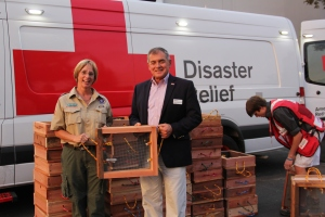 Danelle Jacobs with Steve Countouriotis, Board Chair, American Red Cross of the California Northwest